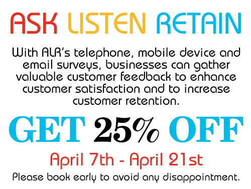 Special 25% Discount on Customer Survey Packages